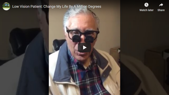 Screenshot 2019 07 20 Low Vision Patient Change My Life By A Million Degrees YouTube