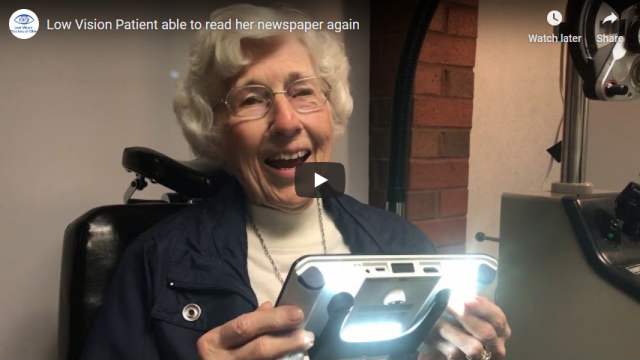 Screenshot 2019 07 20 Low Vision Patient able to read her newspaper again YouTube