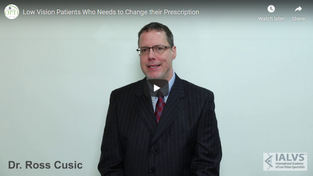 Screenshot 2019 07 20 Low Vision Patients Who Needs to Change their Prescription YouTube