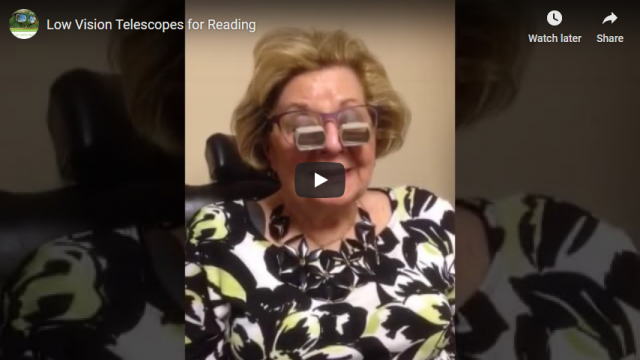 Screenshot 2019 07 20 Low Vision Telescopes for Reading YouTube
