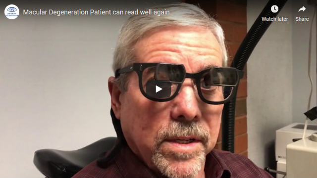 Screenshot 2019 07 20 Macular Degeneration Patient can read well again YouTube