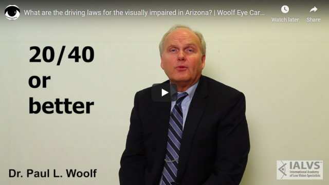 Screenshot 2019 07 20 What are the driving laws for the visually impaired in Arizona Woolf Eye Care Center YouTube