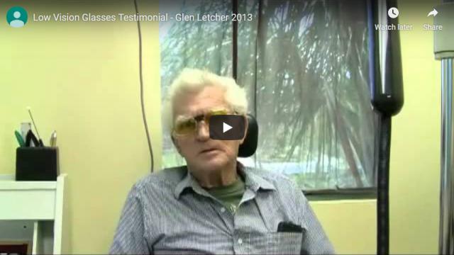 Screenshot 2019 07 21 Low Vision Glasses Testimonial Glen Letcher 2013 YouTube