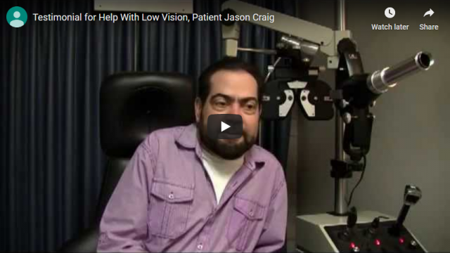 Screenshot 2019 07 21 Testimonial for Help With Low Vision Patient Jason Craig YouTube