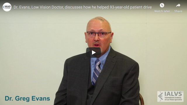 Screenshot 2019 08 17 Dr Evans Low Vision Doctor discusses how he helped 93 year old patient drive YouTube
