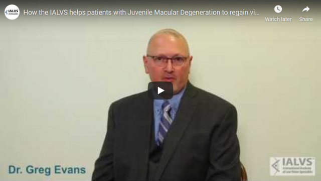 Screenshot 2019 08 17 How the IALVS helps patients with Juvenile Macular Degeneration to regain visual activity YouTube