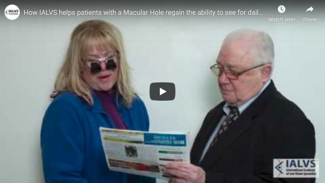 Screenshot 2019 11 06 How IALVS helps patients with a Macular Hole regain the ability to see for daily living   YouTube