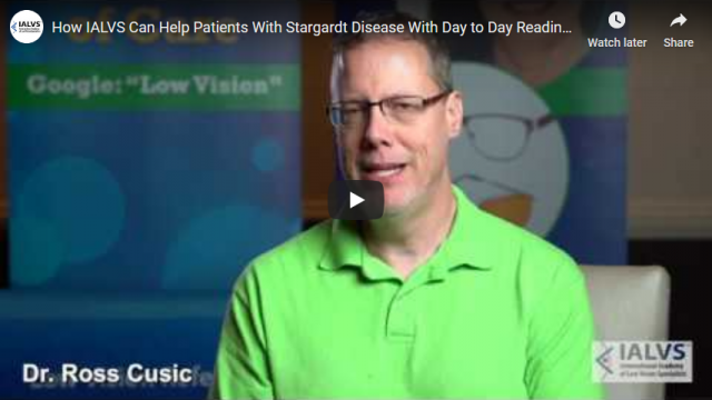 Screenshot 2020 01 28 How IALVS Can Help Patients With Stargardt Disease With Day to Day Reading and Writing IALVS