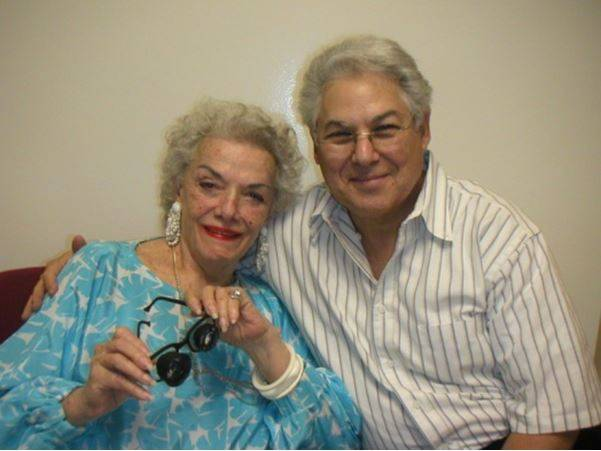 Richard J. Shuldiner, OD, FAAO, FIALVS With late actress Jane Russell
