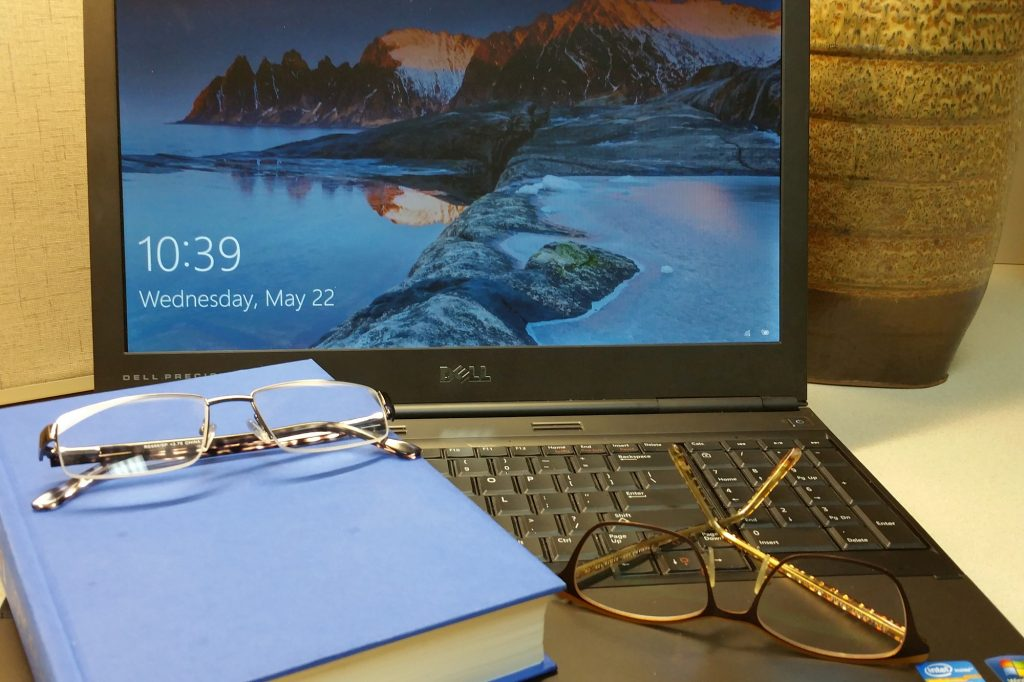 Computer and Reading glasses crop