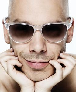Model wearing ic! berlin sunglasses
