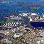 Redwood City port aerial view