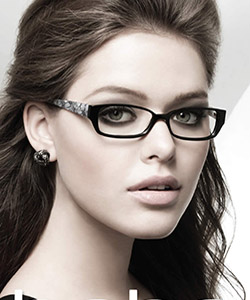 Eye care, Model wearing Bebe eyeglasses in Independence, Sandusky, OH