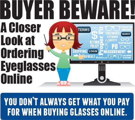 beware buying glasses online