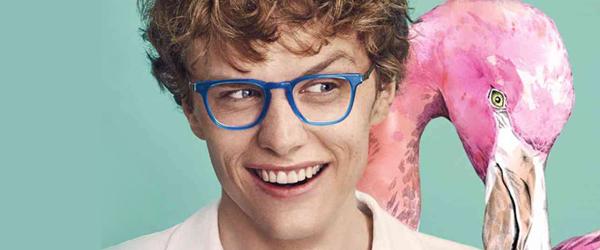 Man wearing eco glasses