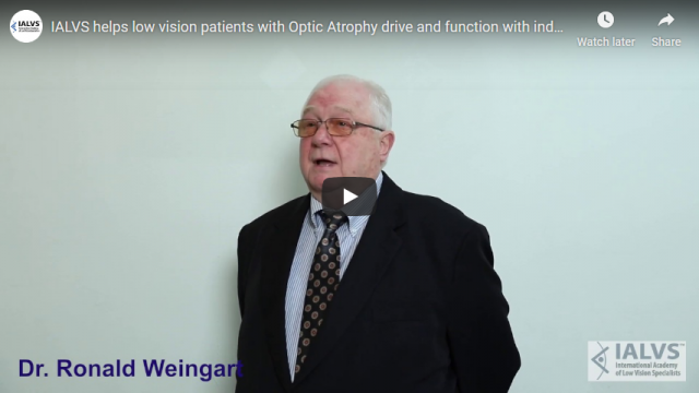 Screenshot 2019 11 08 IALVS helps low vision patients with Optic Atrophy drive and function with independence   YouTube
