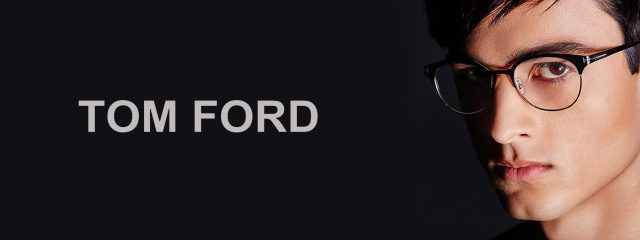 Optometrist, man wearing Tom Ford eyeglasses