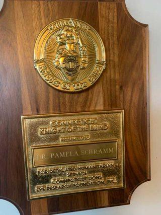 Award from Brookfield and Danbury Lyons club