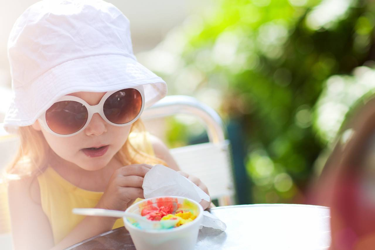 Little Girl Sunglasses Ice Cream 1280×853