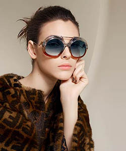 Model wearing Lindberg sunglasses
