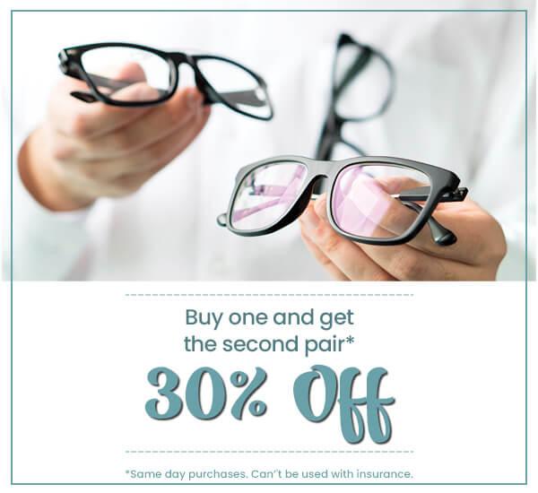 Eye Boutique Optometry—BOGO 30 off