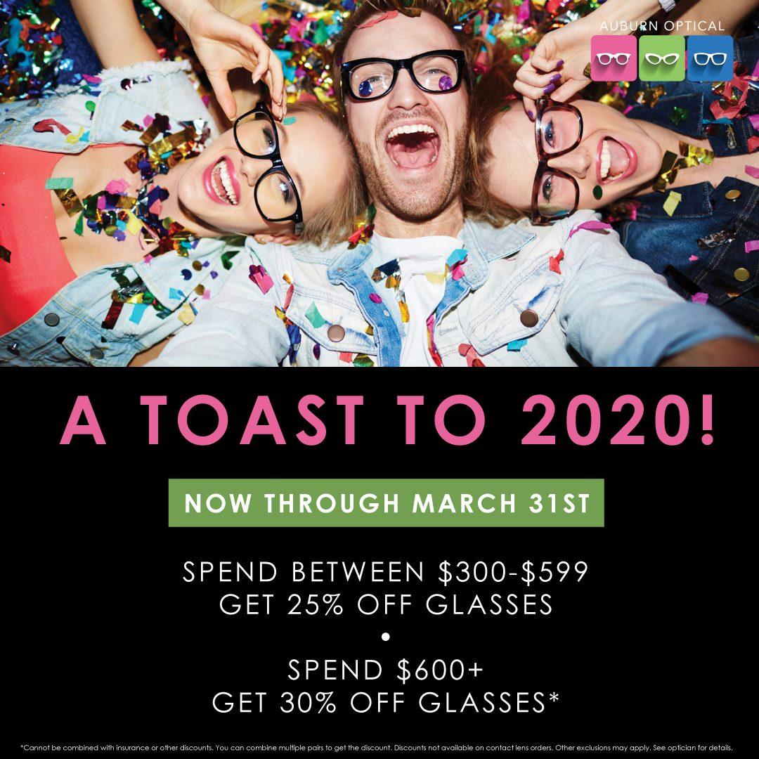 AuburnOptical Toastto2020 SocialPost