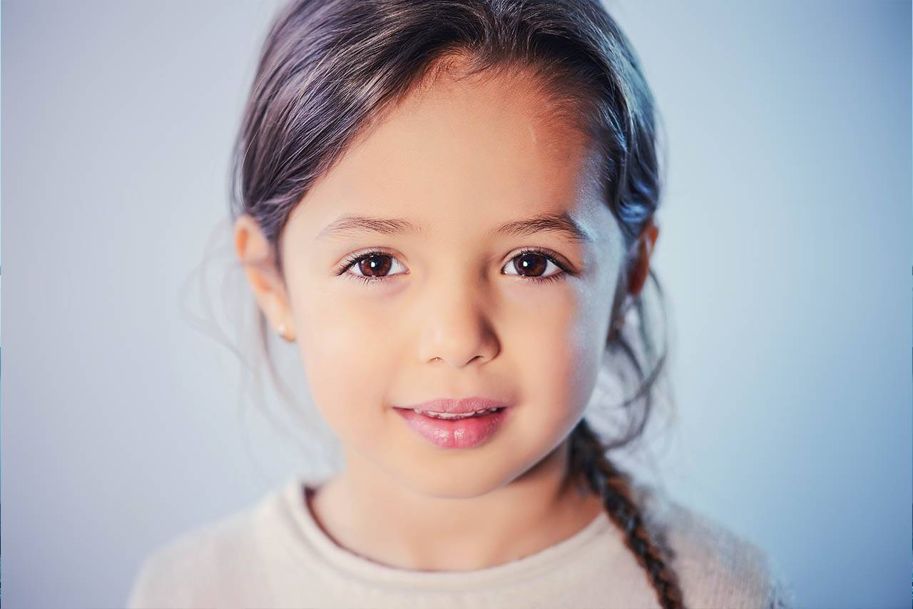 Child Girl Brown Eyes 1280×853