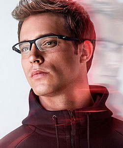 Model wearing Nike glasses