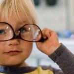 young boy with myopia