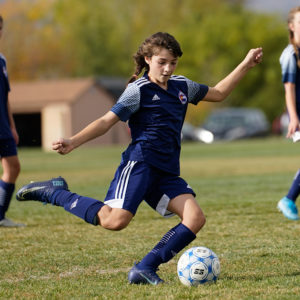 Vision therapy graduate excelling in soccer