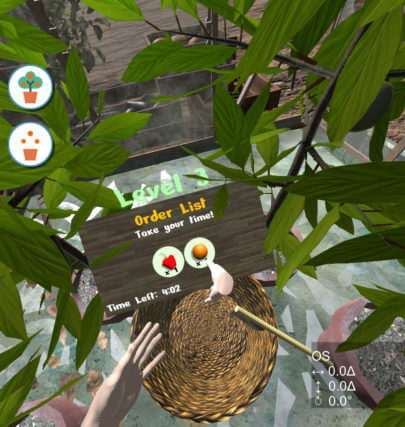 Pepper Picker VR game for vision therapy