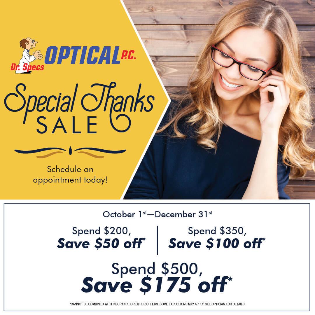 DrSpecs Q4 SpecialThanksSale socialpost