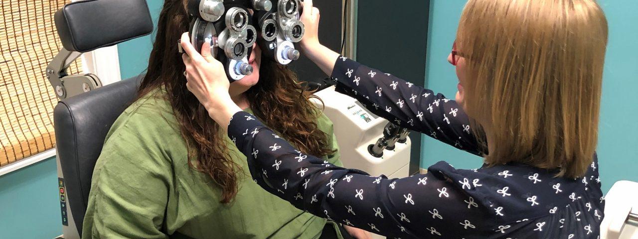eye doctor patient exam crop