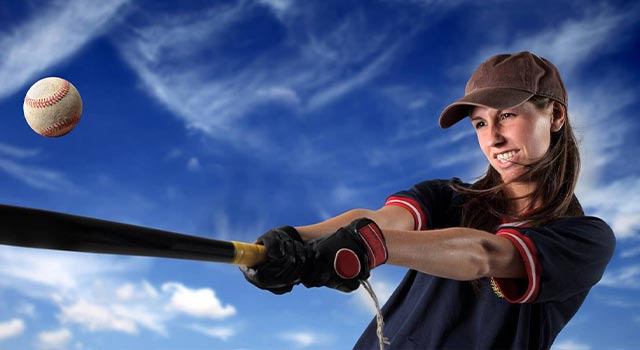 sports baseball player female