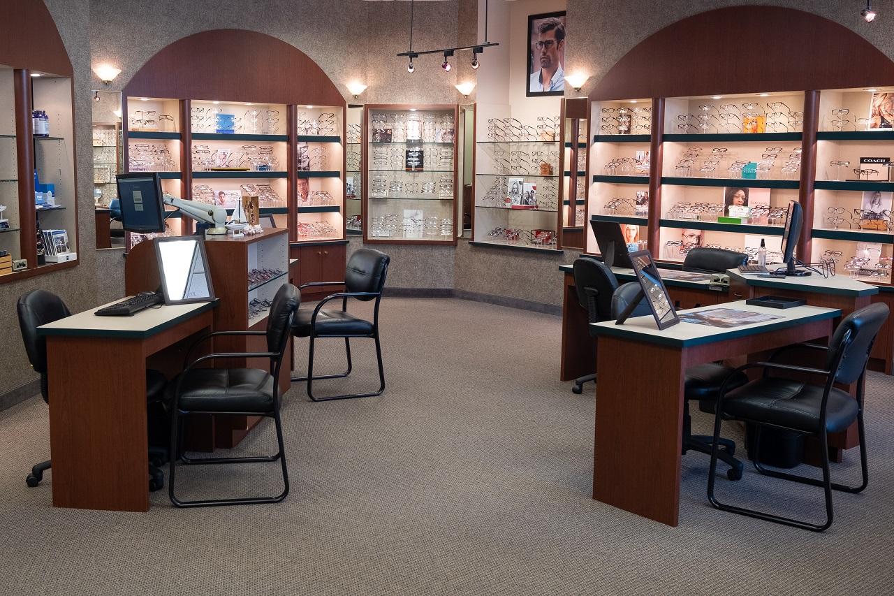 Family Eye Clinics Eden Prairie optical area