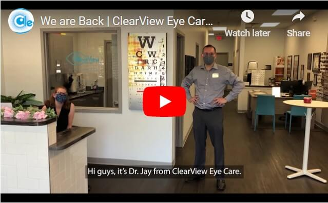 We are back - Clear View Eye Care