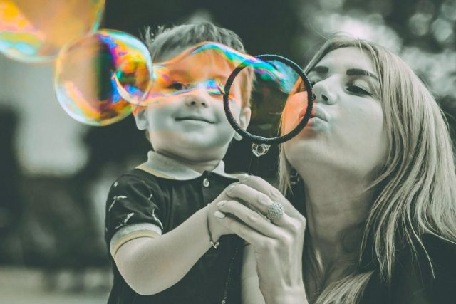 Mom Son Blowing Bubbles 1280x853 1024x682 2 640x427