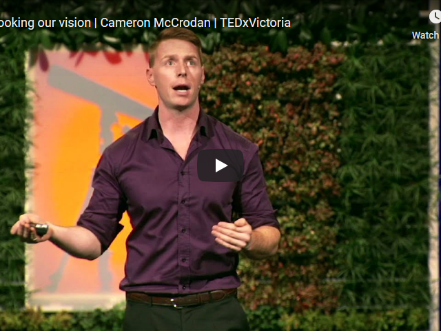 Screenshot 2019 12 07 Overlooking our vision Cameron McCrodan TEDxVictoria YouTube