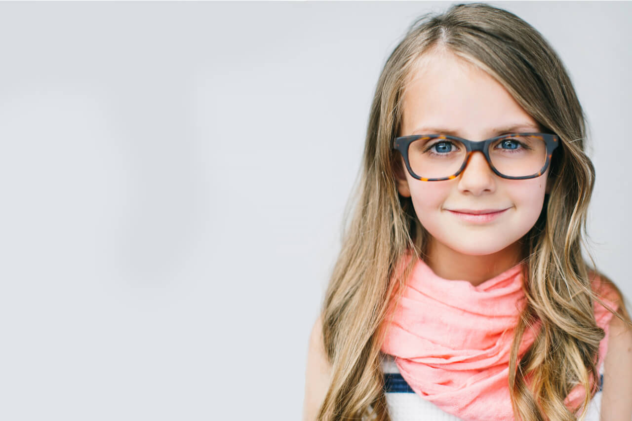 Girl Smiling glasses