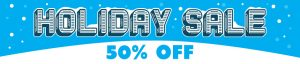 holiday 50% off
