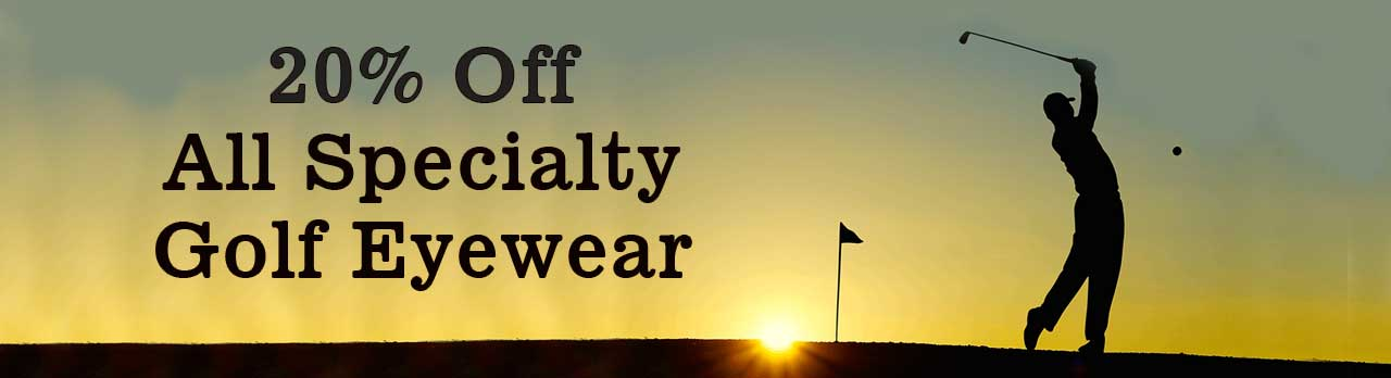 banner for golf eyewear