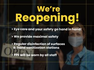 EyeCarePro Reopening FB Post 1