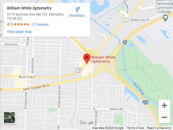 William White Optometry Google Maps
