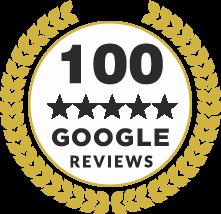 100 Reviews Badge
