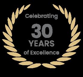 30 YEARS Anniversary Badge