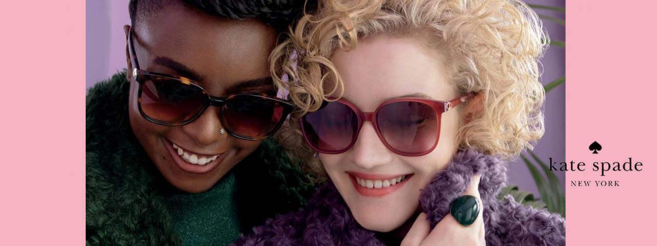 Woemn Wearing Kate Spade Designer Eyeglass Frames