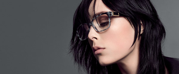 Woman wearing Boss Designer Eyeglass Frames