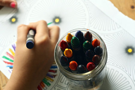 crayons coloring book coloring book