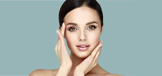 Woman with smooth, beautiful skin from botox