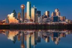 texas dallas city night
